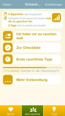 Rauchfrei_APP_Vorbereitungs_Homescreen