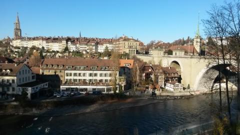 Stadt Bern - Ausblick vom Bärengraben