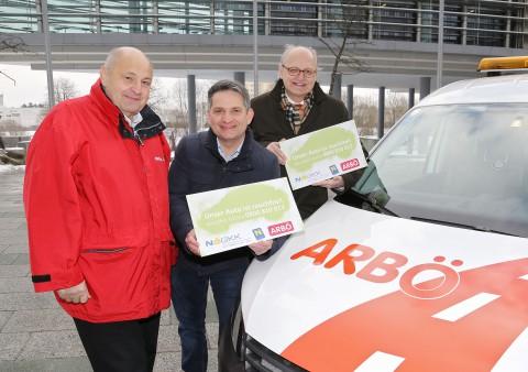 v.l.n.r.: Franz Pfeiffer (Geschäftsführer ARBÖ), Ing. Maurice Androsch (Gesundheitslandesrat), Mag. Jan Pazourek (Generaldirektor NÖGKK). Foto: H.Käfer