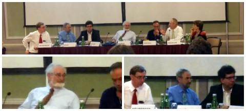 oben: Die geladenen Expertinnen und Experten beim Symposium Tobacco Control unten links: Glantz; unten rechts: Pietsch, Neuberger, Haas Fotos © Rauchfrei Telefon